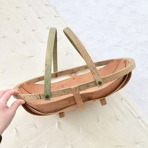 Vintage English Trug Basket
